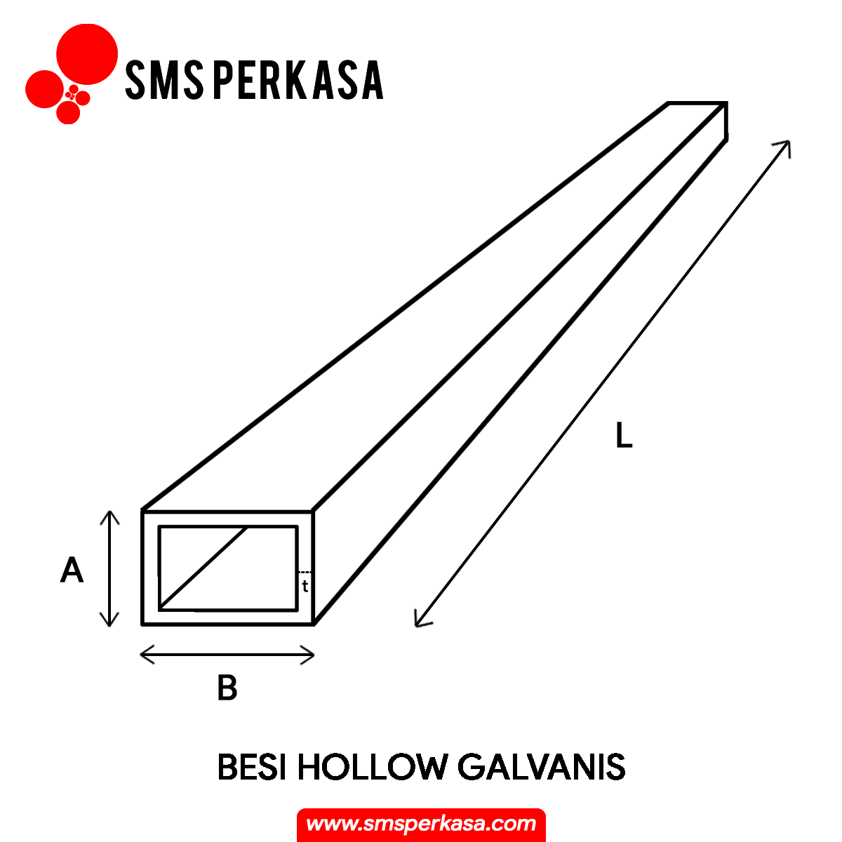 Hollow Galvanis: Harga, Ukuran, dan Berat   SMS Perkasa